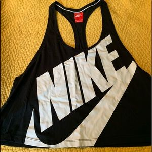 Nike black & white muscle tank top Large like new